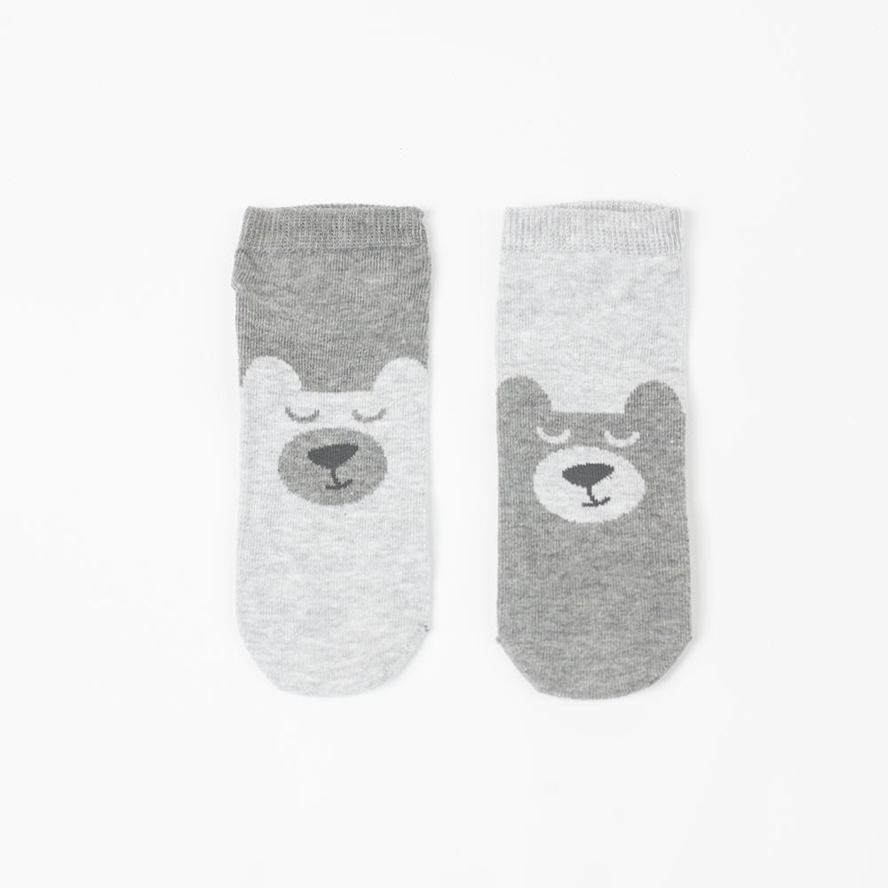 Skarpety bawełniane (stopki) Szary Miś