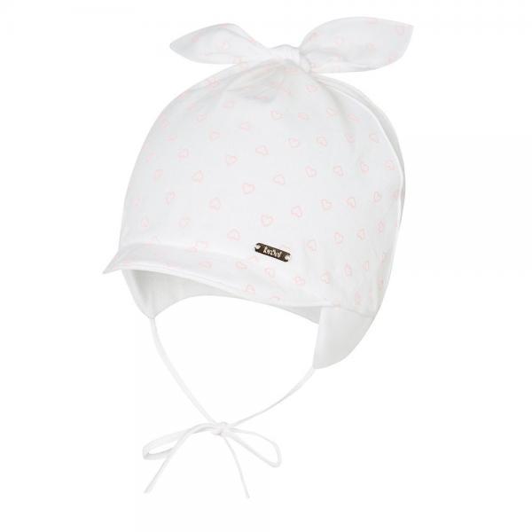 Niemowlęca czapka z daszkiem Felicjana biała Broel