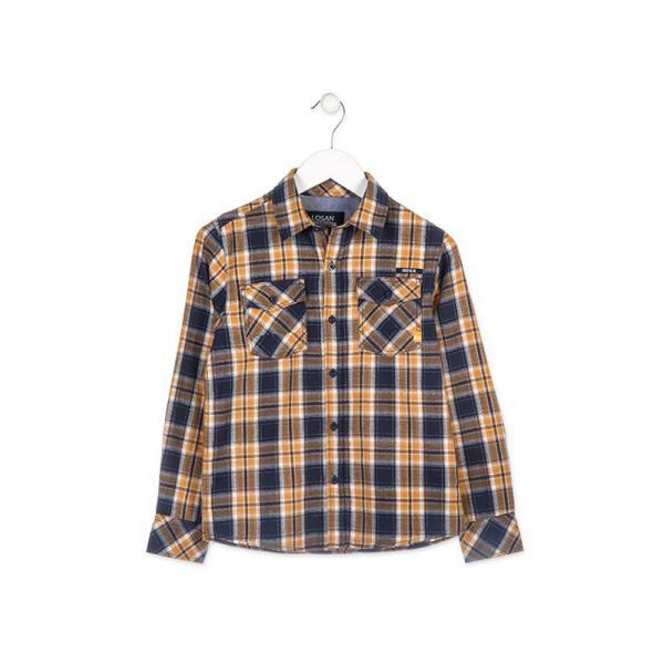 Chłopięca koszula w kratkę Losan 823-3004AA