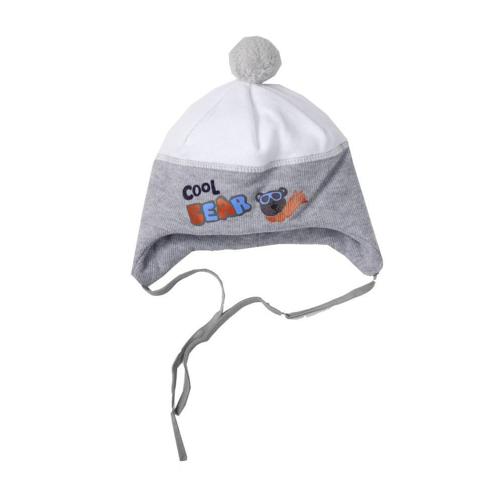 Zimowa czapka niemowlęca mroźny miś