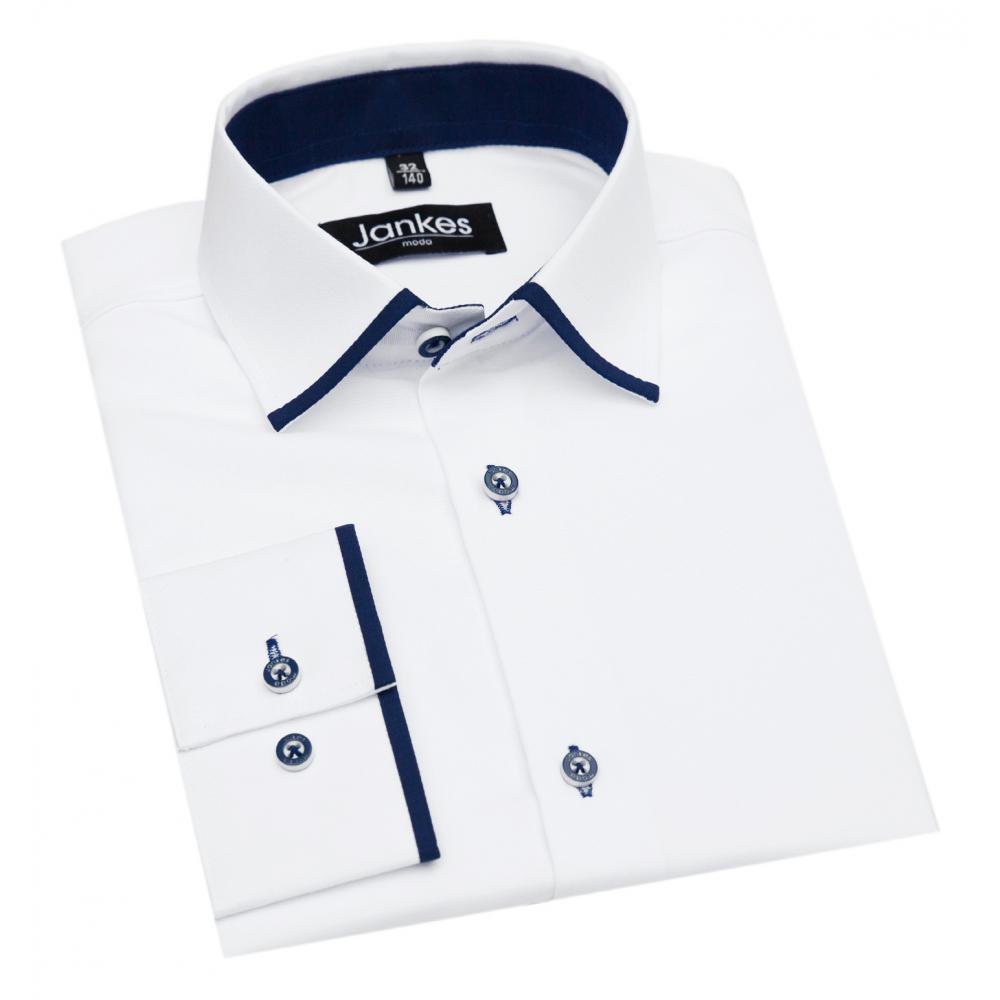 Biała koszula dla chłopaka