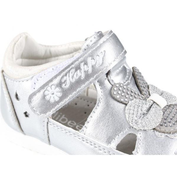 Srebrne sandały dla dziewczynki P-290