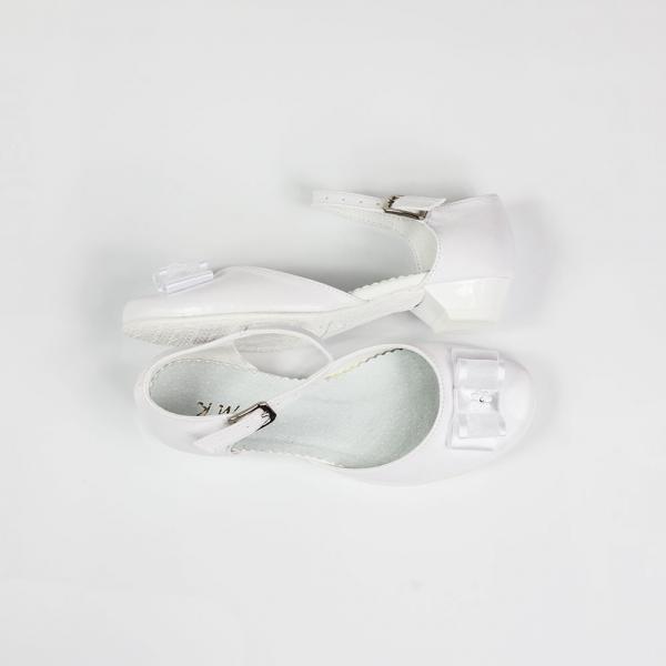 Białe półbuty dziewczęce KMK 226b