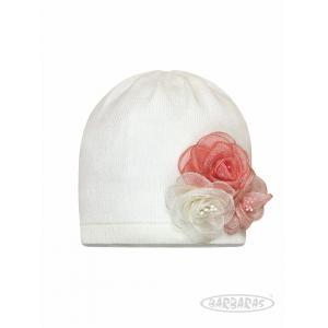 Wiosenna czapeczka z kwiatkiem Ba43 Barbaras