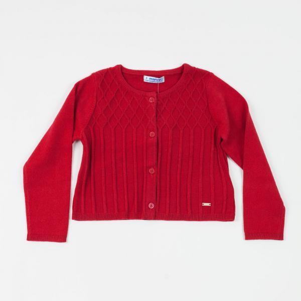 Bolerko sweterek czerwony 4326 Mayoral