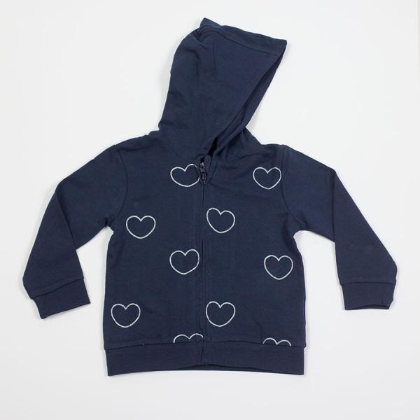 Granatowa bluza w serduszka Losan 816-6650AD