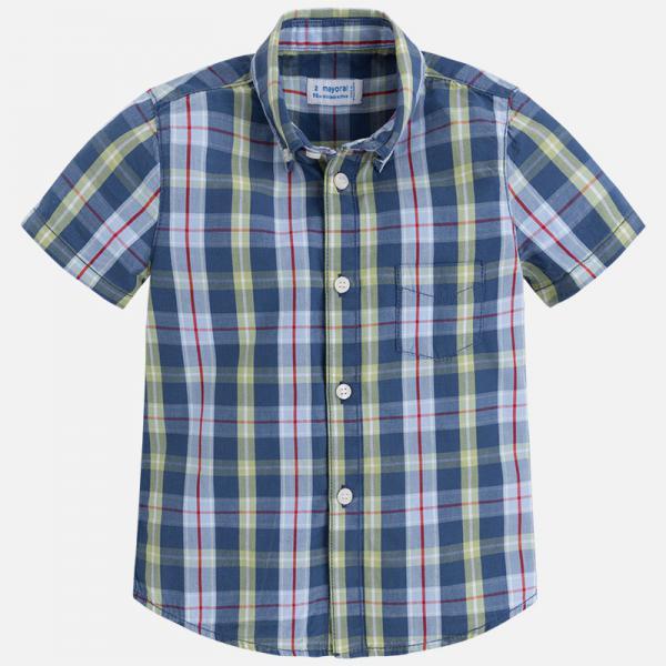 Koszula chłopięca w kratkę 3154 Mayoral