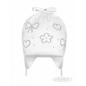 Biała czapka niemowlęca BA212 Barbaras