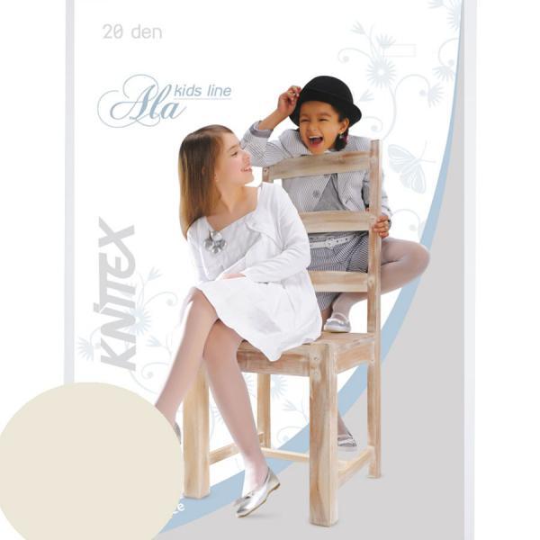 Perłowe rajstopy dziecięce Knittex Ala 20 den