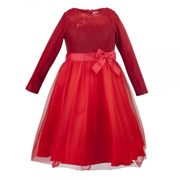 Błyszcząca sukienka z długim rękawem Oliwia Al-Da
