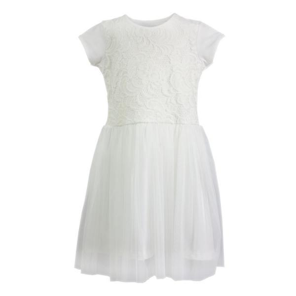 Kremowa sukienka z tiulem 711