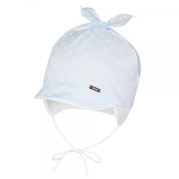 Niemowlęca czapka z daszkiem Felicjana niebieska Broel
