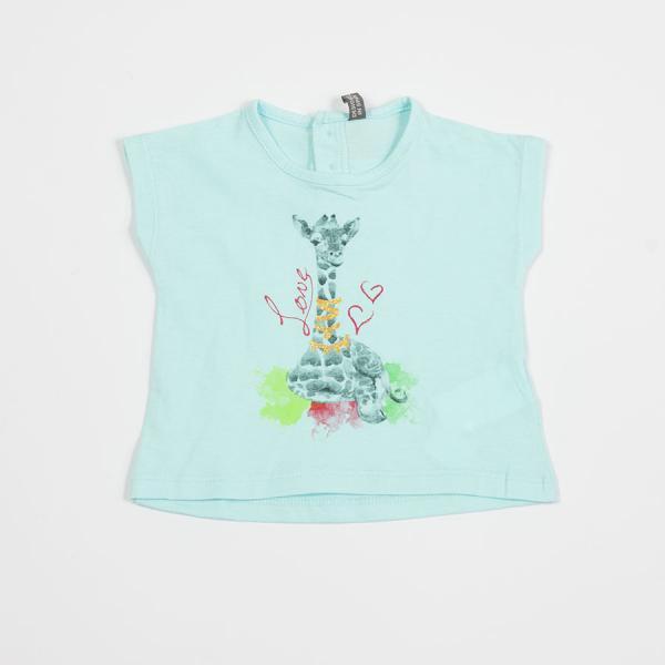 Koszulka dziewczęca z żyrafą 818-1201ad