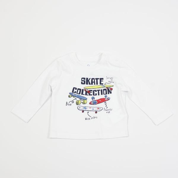 Chłopięcy T-shirt z długim rękawem biały 817-1302ac