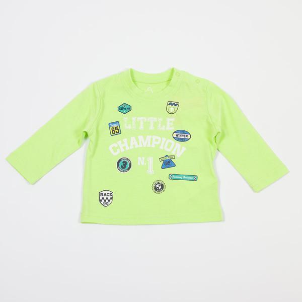 Chłopięcy T-shirt z długim rękawem limonkowy 817-1302ac