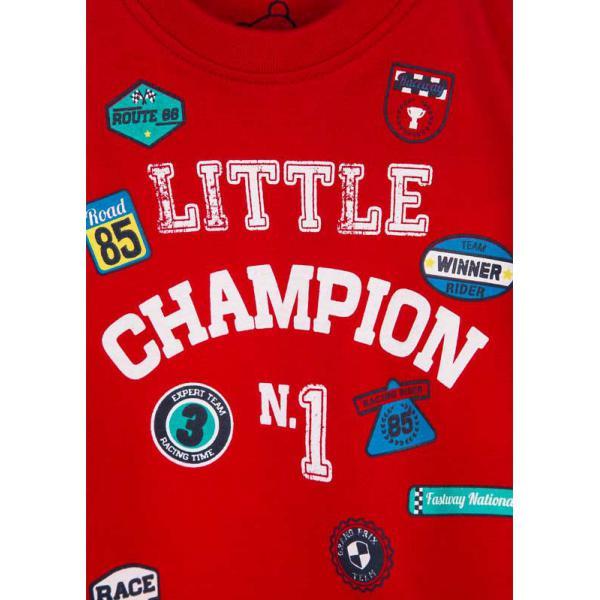Chłopięcy T-shirt z długim rękawem czerwony  817-1302ac