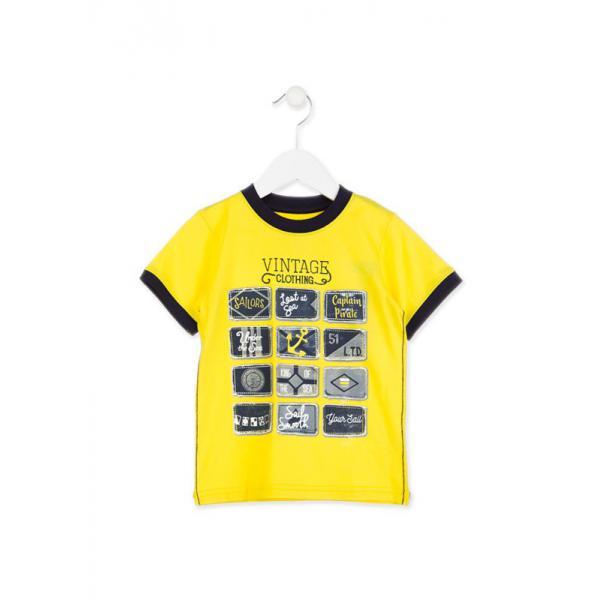 T-SHIRT CHŁOPIĘCY Żółty Losan 815-1005AC