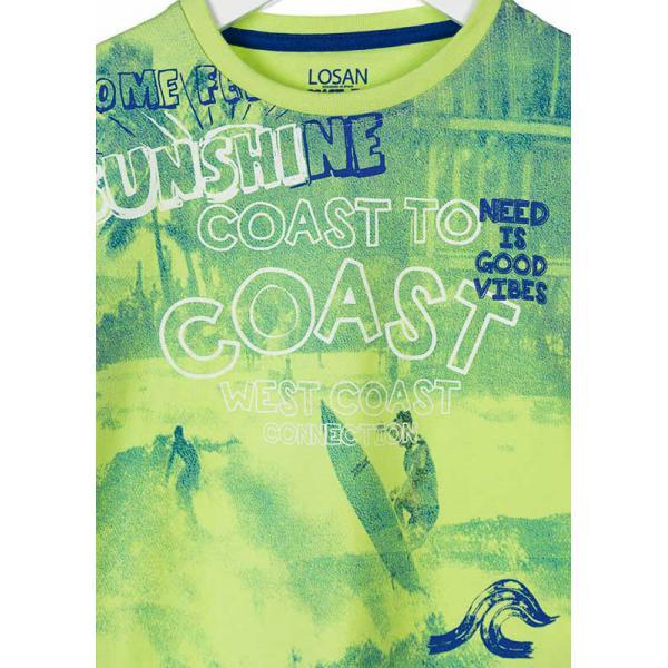 Chłopięcy T-shirt z długim rękawem limonkowy 815-1079ac