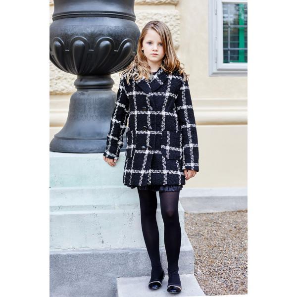 Elegancki płaszcz  w kratkę Al-Da Sylwia