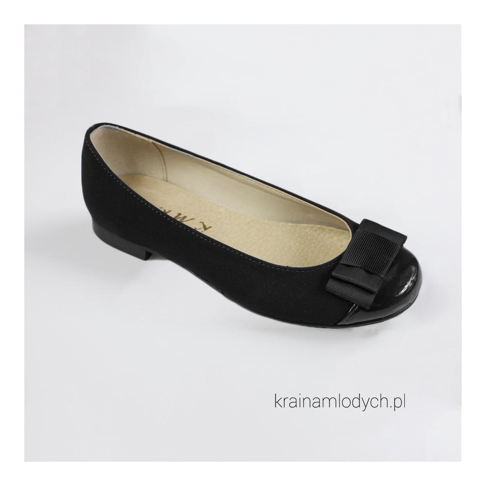 Eleganckie czółenka czarne KMK123