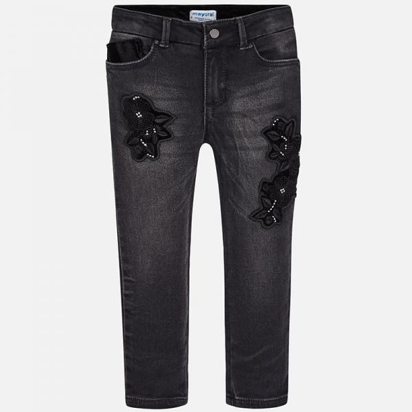 Spodnie jeansowe z haftem 4546 Mayoral