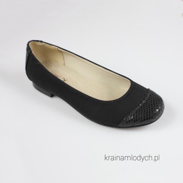 Klasyczne baleriny czarne KMK191