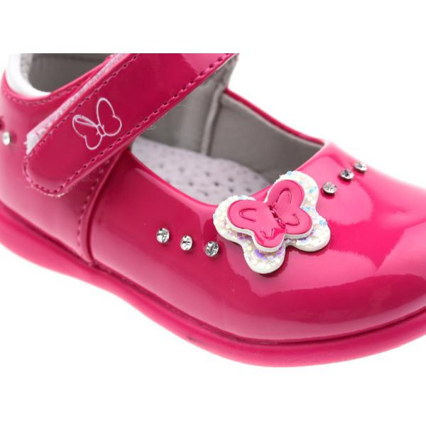 Różowe lakierki dziewczęce AD-532