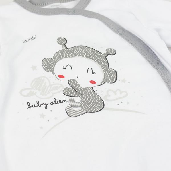 Biały pajac niemowlęcy Clouds
