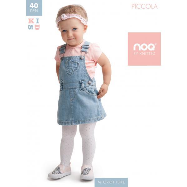 Białe rajstopy niemowlęce 40 den Piccola Knitex