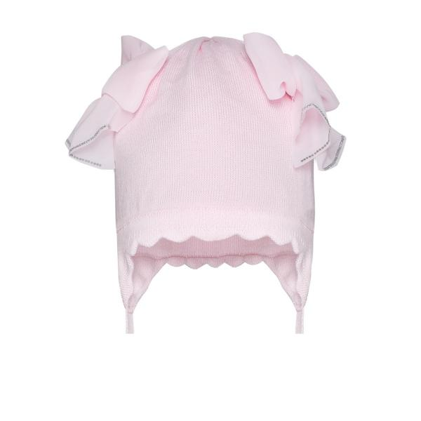 Urocza przejściowa czapka dla dziewczynki różowa BU318/c