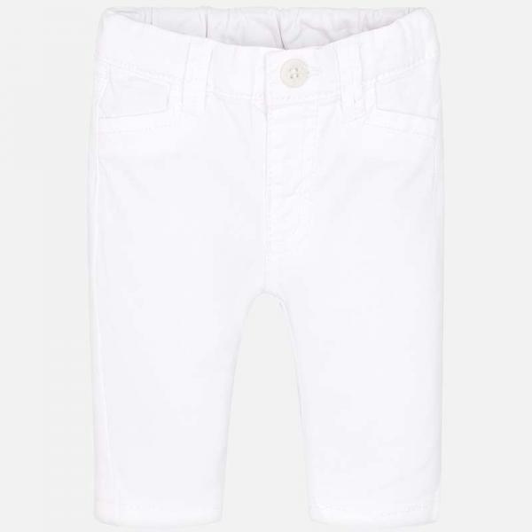 Spodnie niemowlęce białe 595 Mayoral CHINOS