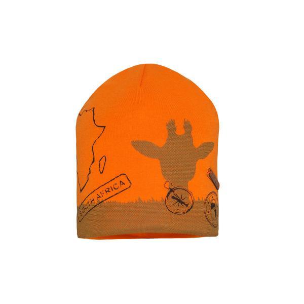 Przejściowa czapka chłopięca pomarańczowy CU57/C  SAFARI  Barbaras
