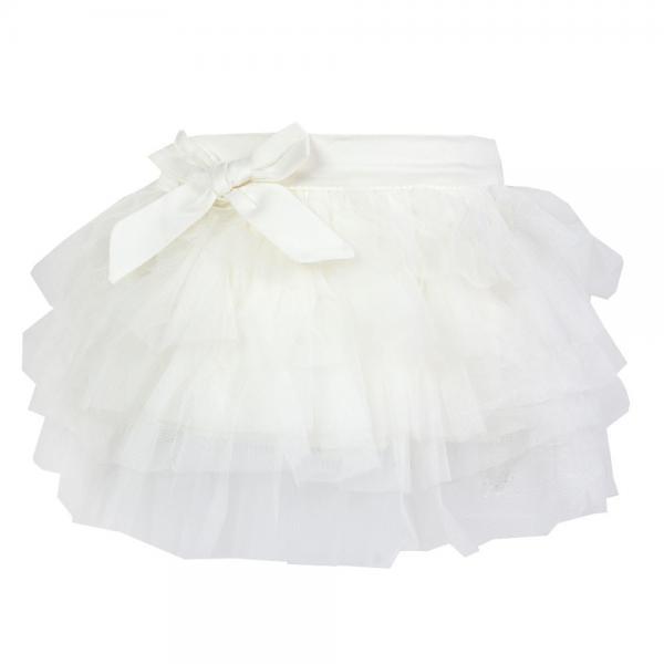 Tiulowa spódnica Inez kremowa