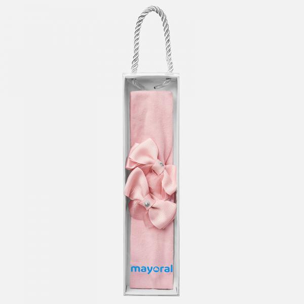 Różowa opaska z kokardką 10543 Mayoral