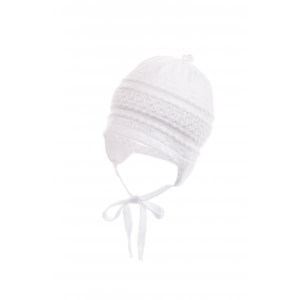 Biała czapka ażurowa Tita Jankess