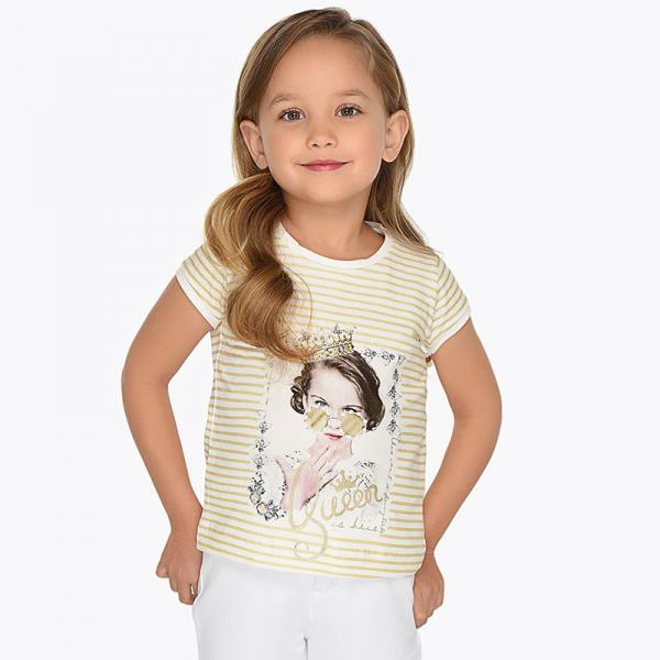 Bluzka w paski dla dziewczynki 3010 Mayoral