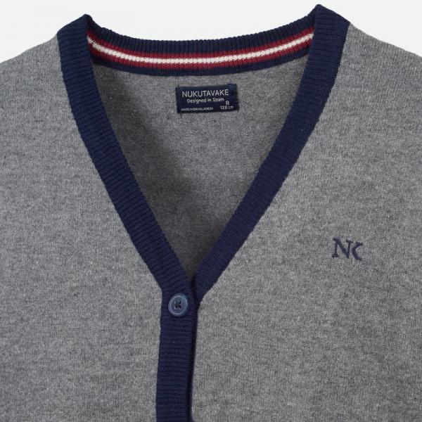 Popielaty zapinany sweter chłopięcy (bluza dzianinowa) 7316 Mayoral