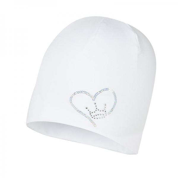 Przejściowa biała czapka niemowlęca Naira Broel
