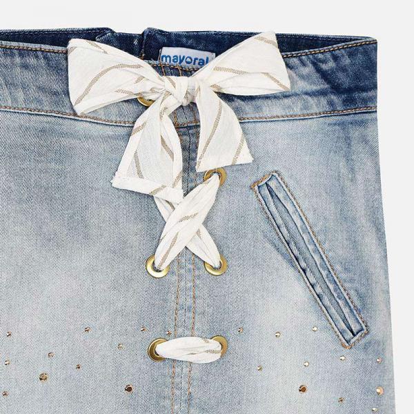 Jeansowa spódnica z kokardą 6903 Mayoral