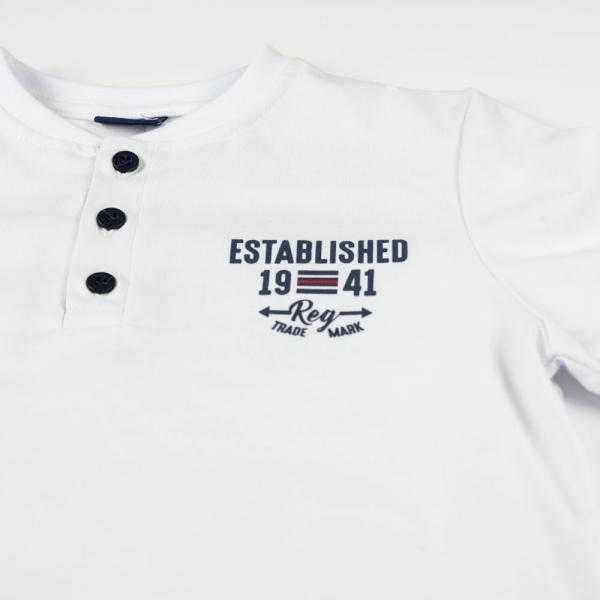 Biała koszulka chłopięca 7436