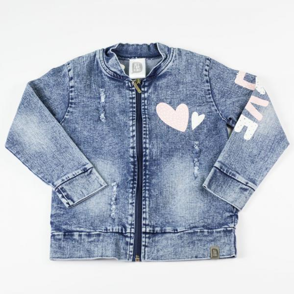 Dziewczęca kurtka jeansowa LOVE