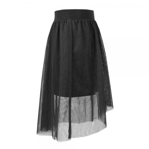 Asymetryczna spódnica dla dziewczynki Sally czarna Al-Da