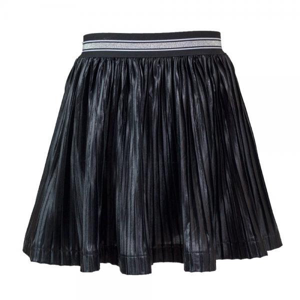 Plisowana czarna spódnica Agnes Al-Da
