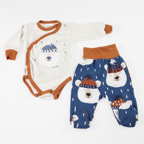 Komplet niemowlęcy body + śpioch Mrofi