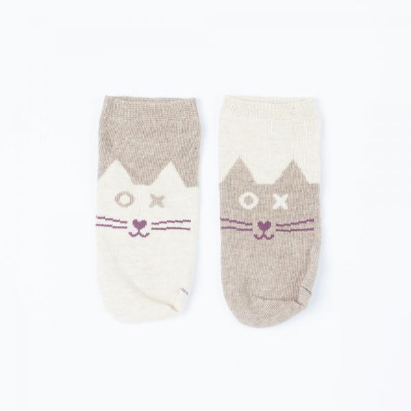 Skarpety (stopki) bawełniane Beżowy Kot