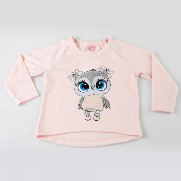 Sweterek sowa różowy pettino