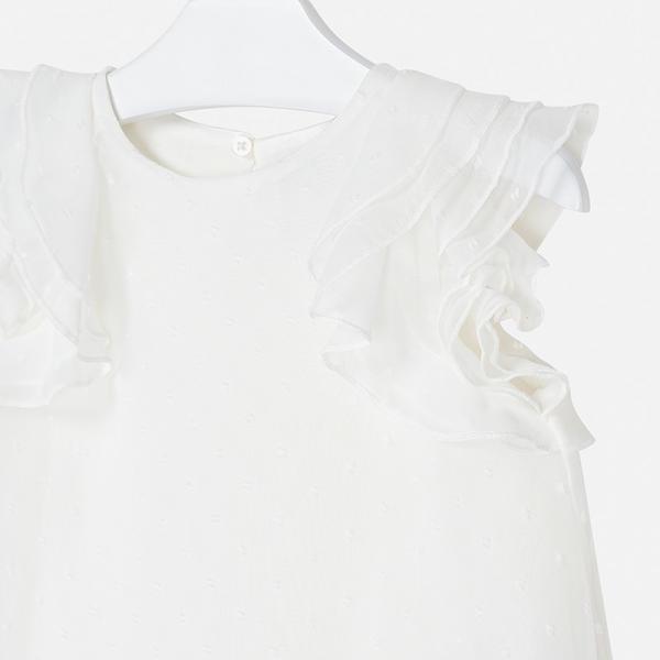 Kremowa bluzka dla dziewczynki 3179 Mayoral