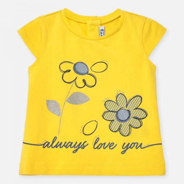 Żółta koszulka dla dziewczynki 1063 Mayoral