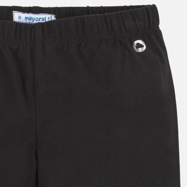 Długie czarne legginsy dziewczęce basic 752 Mayoral