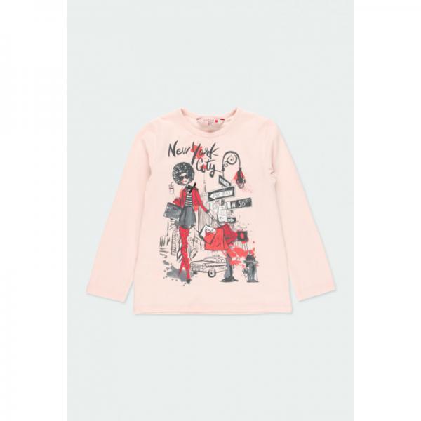 Koszulka z długim rękawem dziewczynka 461180 Boboli
